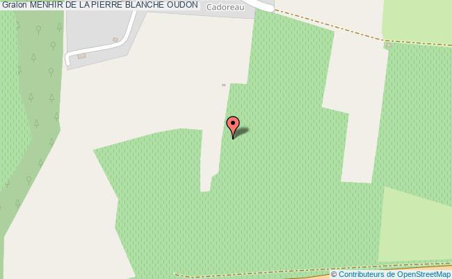 plan Menhir De La Pierre Blanche Oudon
