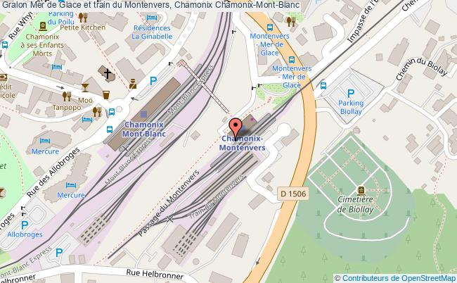 plan Mer De Glace Et Train Du Montenvers, Chamonix Chamonix-mont-blanc