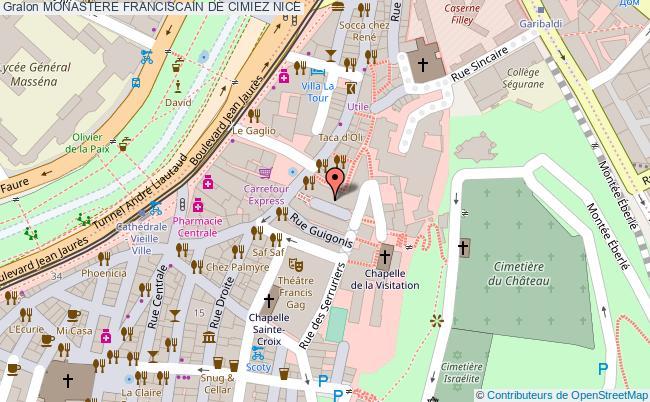 plan Monastere Franciscain De Cimiez Nice