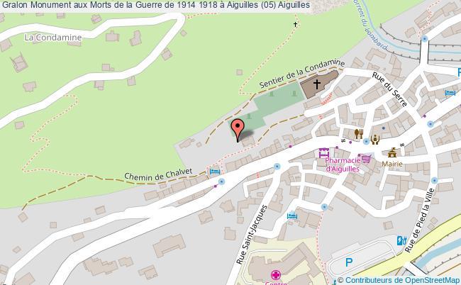 plan Monument Aux Morts De La Guerre De 1914 1918 à Aiguilles (05) Aiguilles