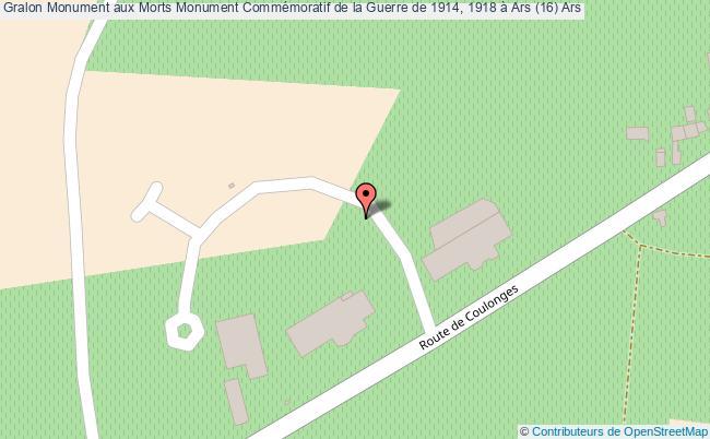 plan Monument Aux Morts Monument Commémoratif De La Guerre De 1914, 1918 à Ars (16) Ars