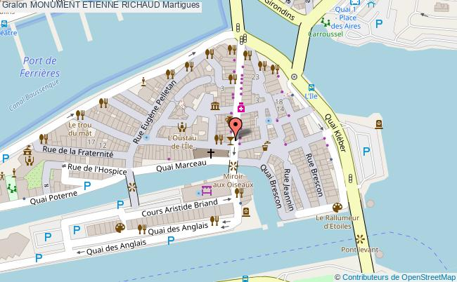 plan Monument Etienne Richaud Martigues