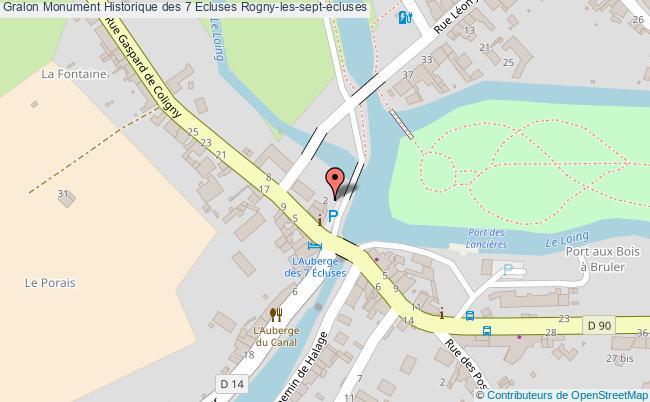 plan Monument Historique Des 7 Ecluses Rogny-les-sept-ecluses