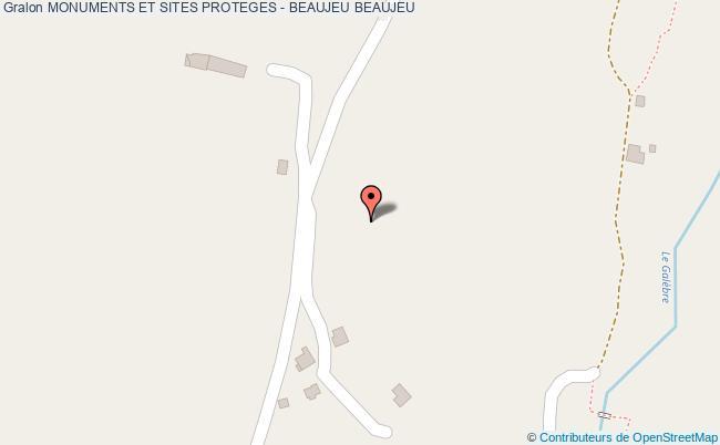 plan Monuments Et Sites Proteges - Beaujeu Beaujeu
