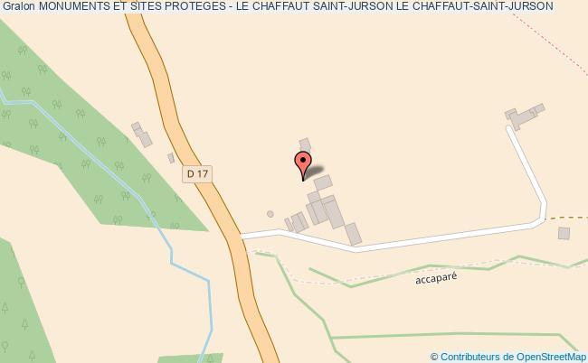 plan Monuments Et Sites Proteges - Le Chaffaut Saint-jurson Le Chaffaut-saint-jurson