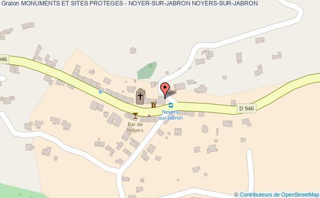 plan Monuments Et Sites Proteges - Noyer-sur-jabron Noyers-sur-jabron