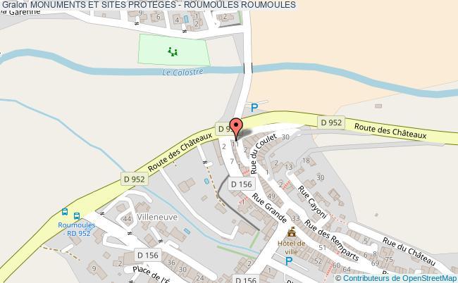 plan Monuments Et Sites Proteges - Roumoules Roumoules