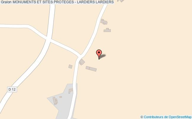 plan Monuments Et Sites Proteges - Lardiers Lardiers