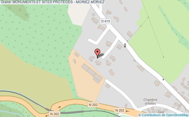 plan Monuments Et Sites Proteges - Moriez Moriez