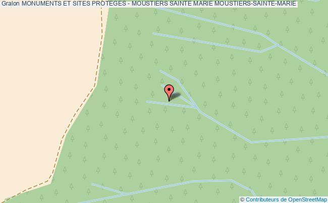 plan Monuments Et Sites Proteges - Moustiers Sainte Marie Moustiers-sainte-marie