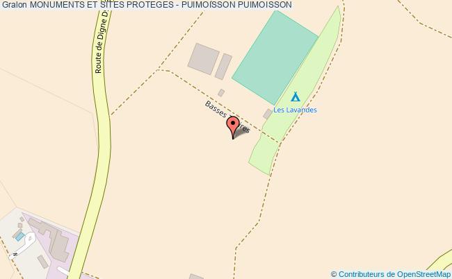 plan Monuments Et Sites Proteges - Puimoisson Puimoisson