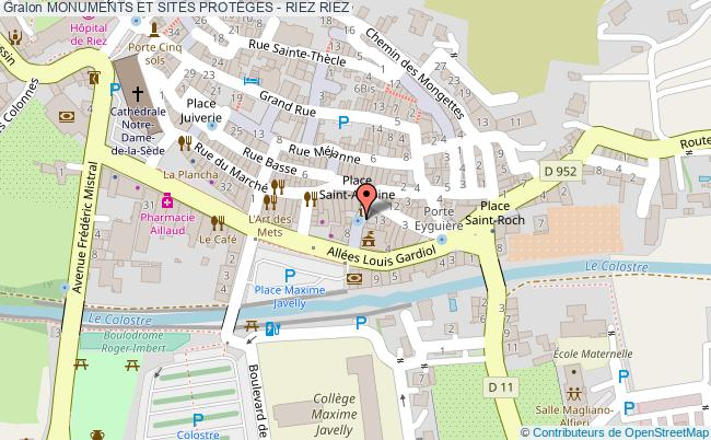 plan Monuments Et Sites Proteges - Riez Riez