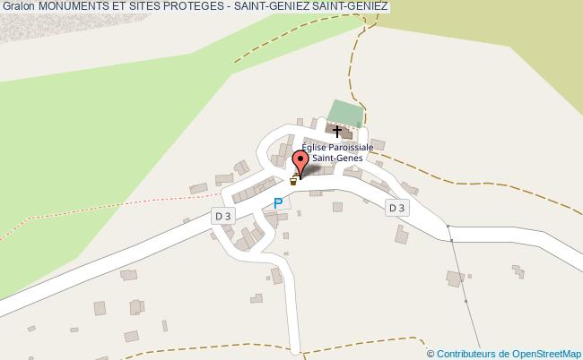 plan Monuments Et Sites Proteges - Saint-geniez Saint-geniez