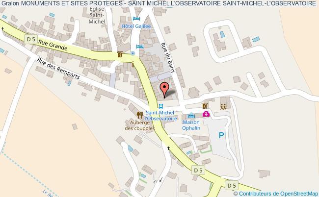 plan Monuments Et Sites Proteges - Saint Michel L'observatoire Saint-michel-l'observatoire