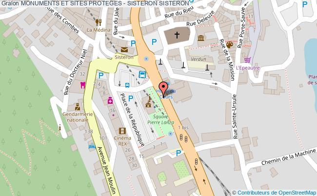 plan Monuments Et Sites Proteges - Sisteron Sisteron