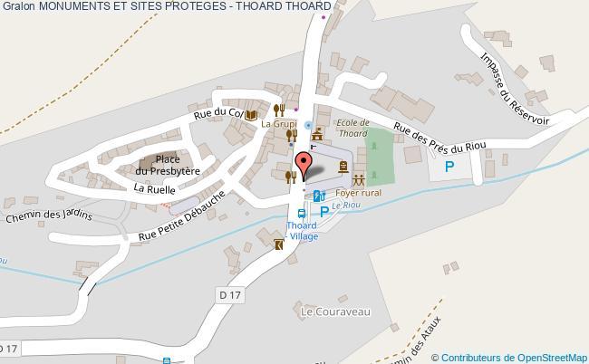 plan Monuments Et Sites Proteges - Thoard Thoard