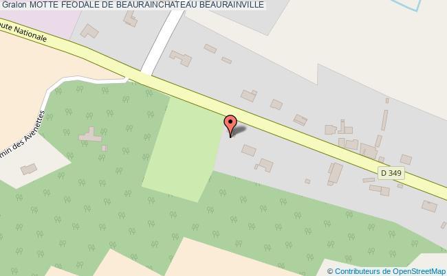plan Motte Feodale De Beaurainchateau Beaurainville