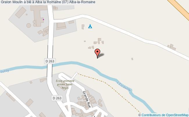 plan Moulin à Blé à Alba La Romaine (07) Alba-la-romaine