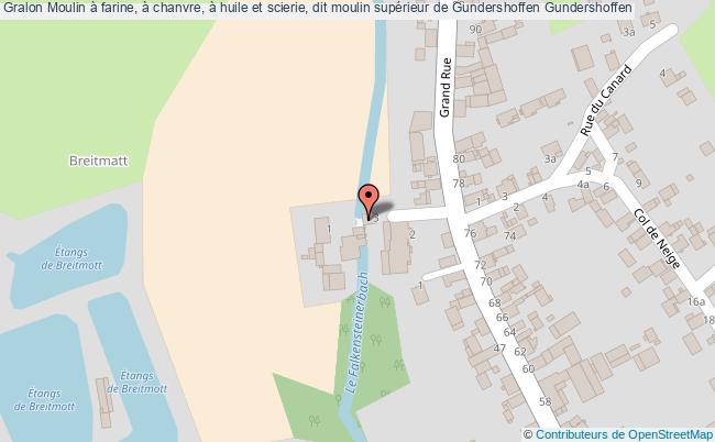 plan Moulin à Farine, à Chanvre, à Huile Et Scierie, Dit Moulin Supérieur De Gundershoffen Gundershoffen