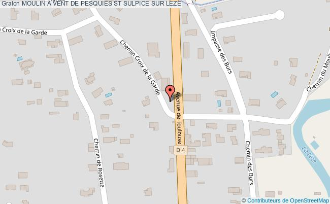 plan Moulin A Vent De Pesquies St Sulpice Sur Leze