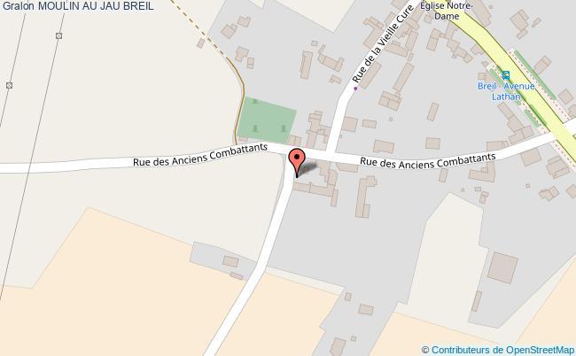 plan association Moulin Au Jau Breil BREIL