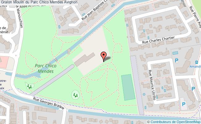 plan association Moulin Du Parc Chico Mendes Avignon Avignon