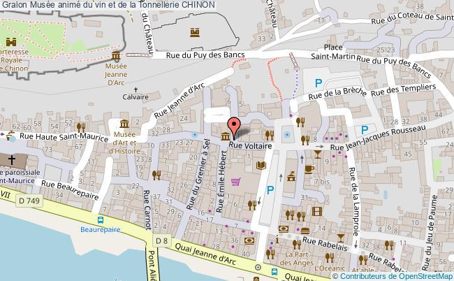 plan Musée Animé Du Vin Et De La Tonnellerie Chinon
