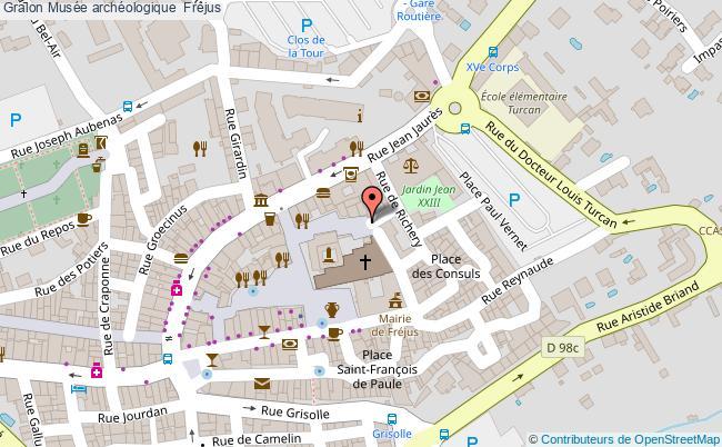 plan association Musée Archéologique  Fréjus Fréjus