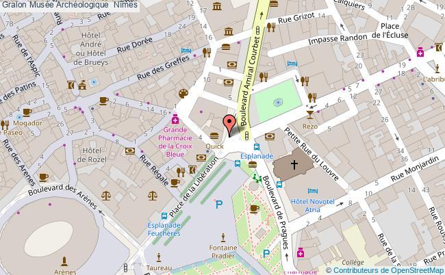 plan Musée Archéologique  Nîmes
