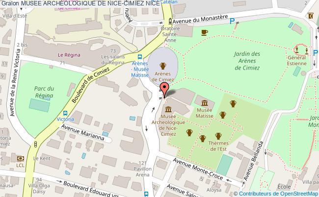 plan Musee Archeologique De Nice-cimiez Nice
