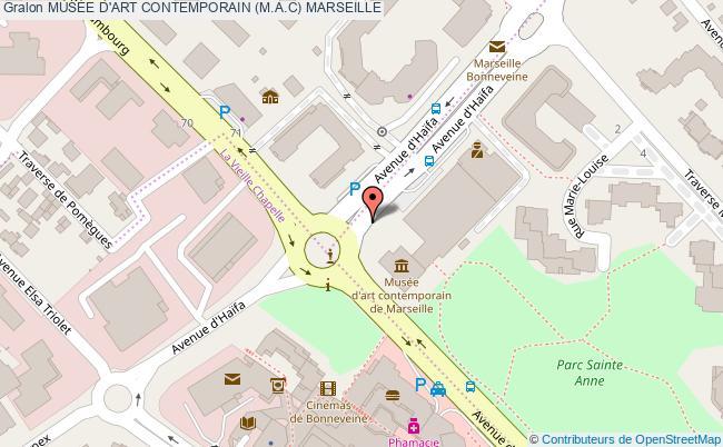 plan MusÉe D'art Contemporain (m.a.c) Marseille