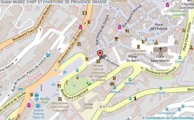 plan Musee D'art Et D'histoire De Provence Grasse