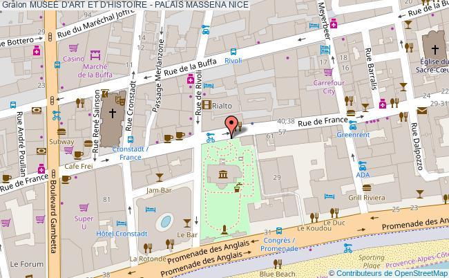 plan Musee D'art Et D'histoire - Palais Massena Nice