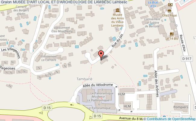 plan MusÉe D'art Local Et D'archÉologie De Lambesc Lambesc