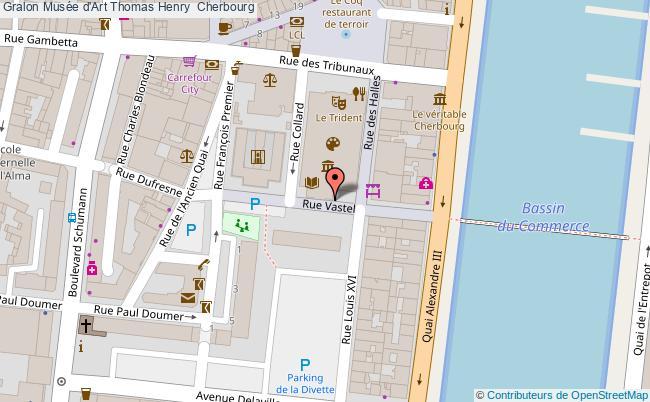 plan Musée D'art Thomas Henry  Cherbourg