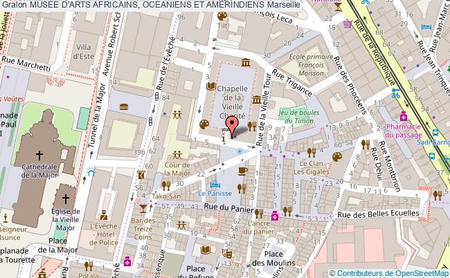 plan MusÉe D'arts Africains, OcÉaniens Et AmÉrindiens Marseille