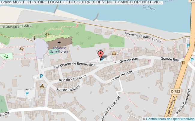 plan Musee D'histoire Locale Et Des Guerres De Vendee Saint-florent-le-vieil