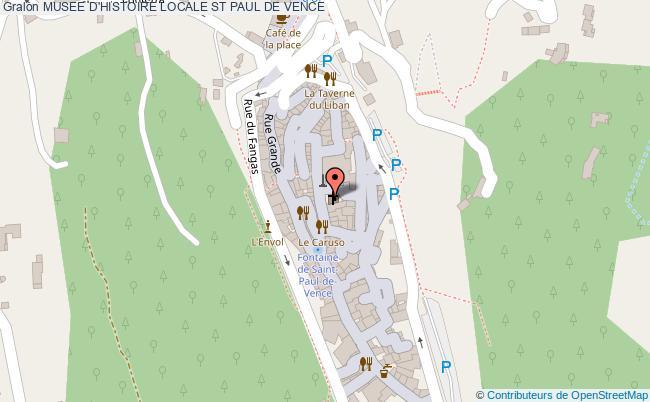 plan Musee D'histoire Locale St Paul De Vence