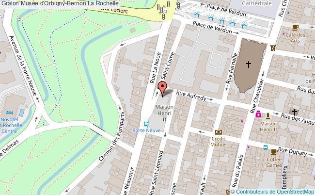 plan Musée D'orbigny-bernon La Rochelle