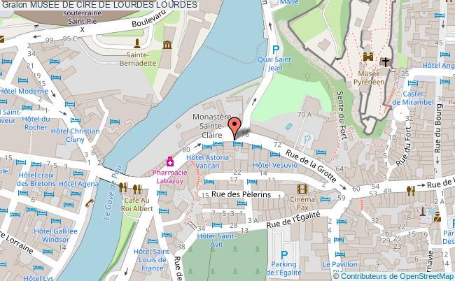 plan association Musee De Cire De Lourdes Lourdes LOURDES