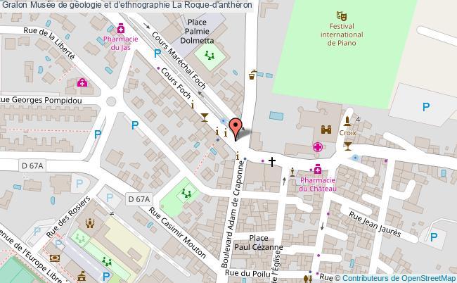 plan Musée De Géologie Et D'ethnographie La Roque-d'anthéron