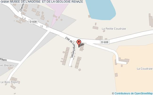 plan association Musee De L'ardoise  Et De La Geologie Renaze RENAZE