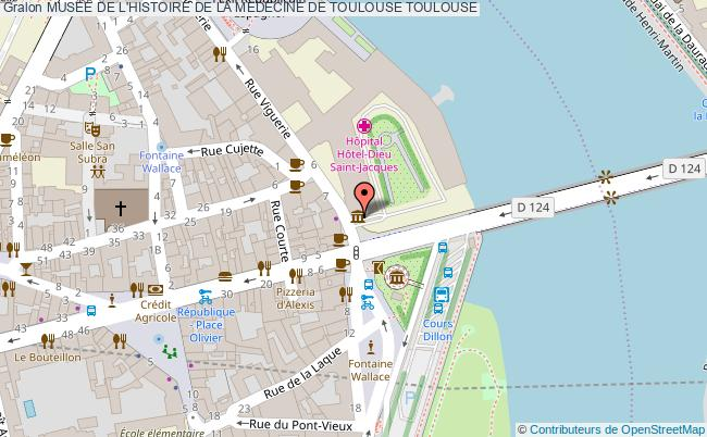 plan Musee De L'histoire De La Medecine De Toulouse Toulouse