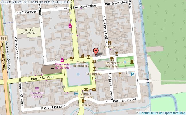 plan Musée De L'hôtel De Ville Richelieu