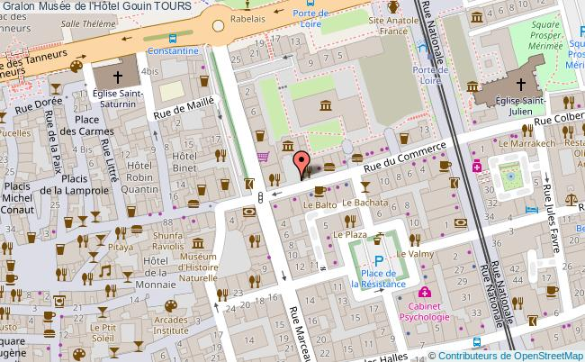 plan Musée De L'hôtel Gouin Tours