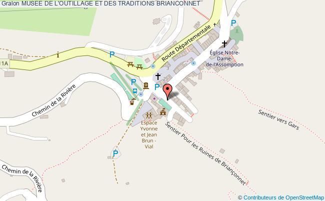 plan association Musee De L'outillage Et Des Traditions Brianconnet BRIANCONNET