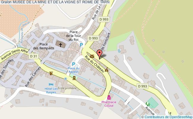 plan Musee De La Mine Et De La Vigne St Rome De Tarn