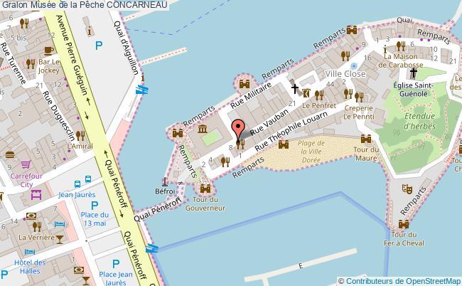 plan Musée De La Pêche Concarneau