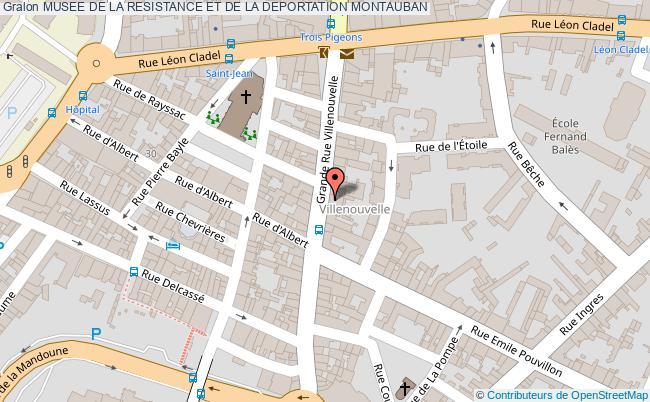 plan Musee De La Resistance Et De La Deportation Montauban