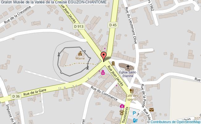 plan Musée De La Vallée De La Creuse Eguzon-chantome